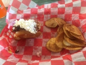 Hot dog at Lanes Ferry and grill