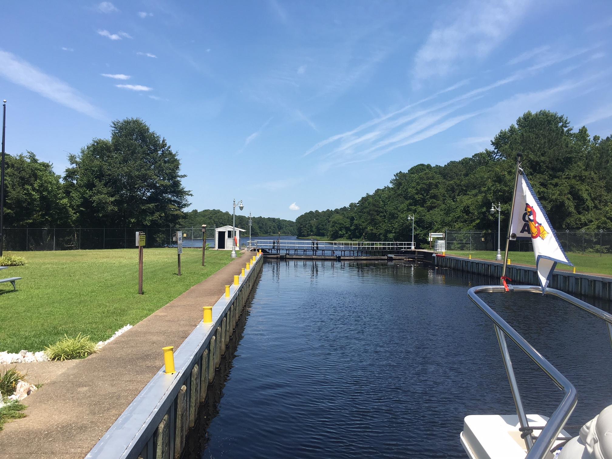 Leaving the Deep Creek Lock