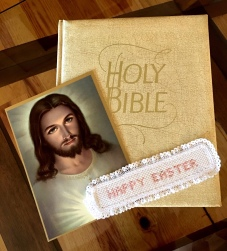 Family Bible and picture of Jesus