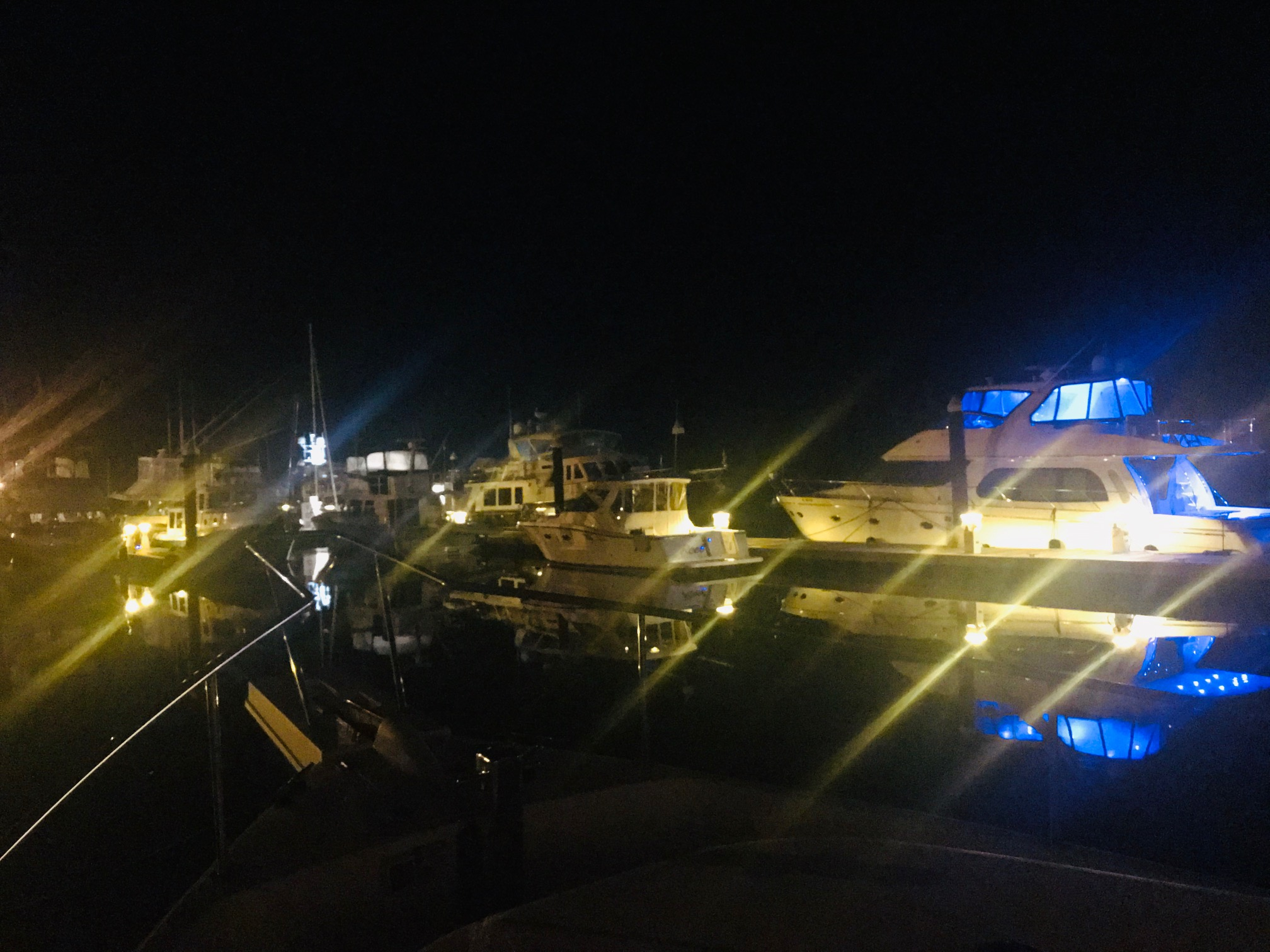 Nighttime at Harborwalk Marina