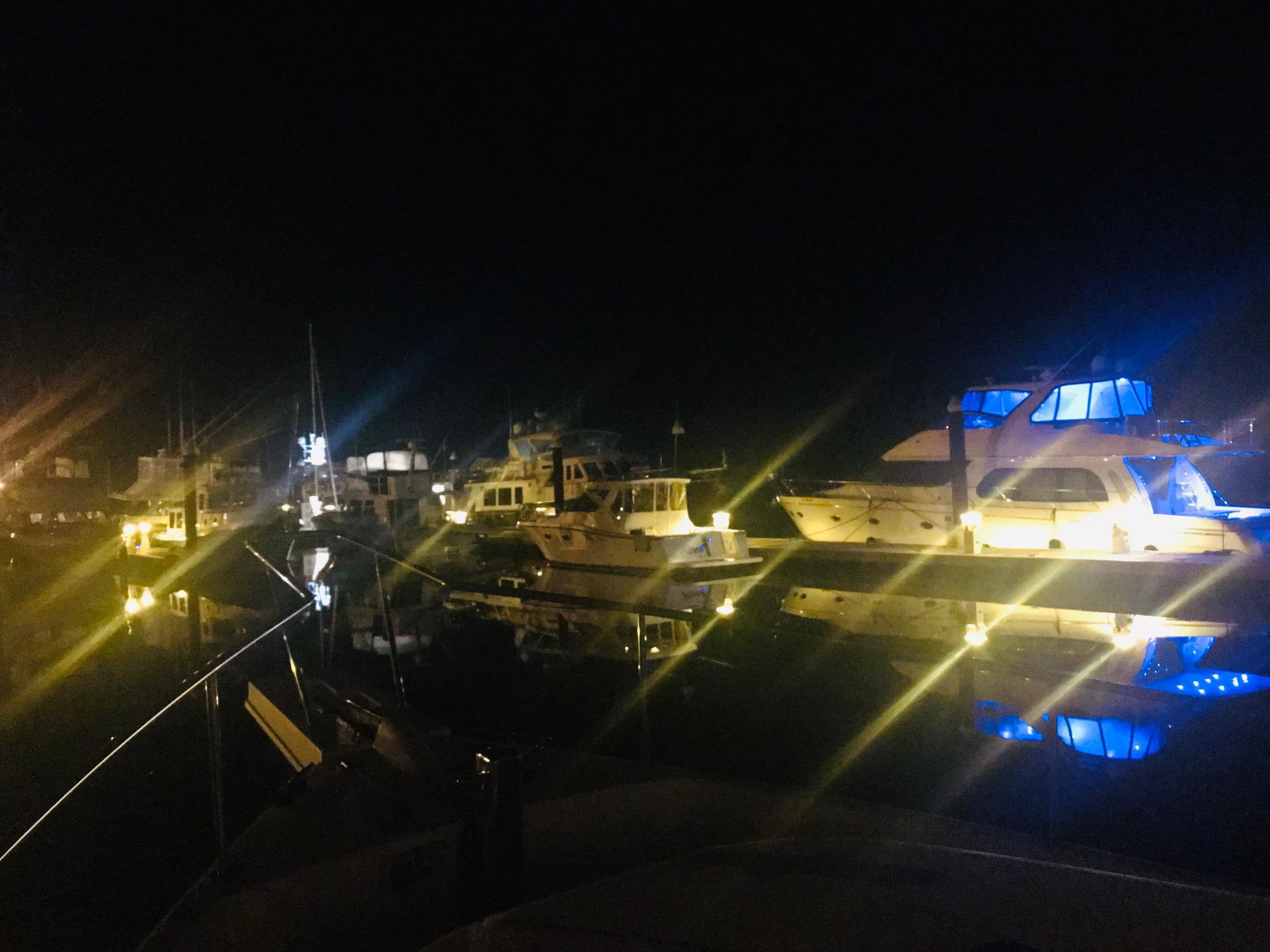 Nighttime at Harborwalk Marina