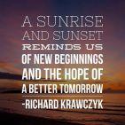 A SUNRISE AND SUNSET