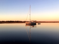Calm waters as sunset approaches on Dewees Creek