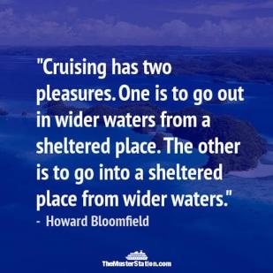 CRUISING HAS TWO PLEASURES