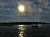 Full moon over Inlet Creek