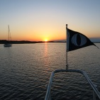Sunset on the burgee